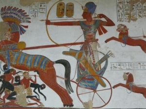 Egyptian chariot. Photo taken at the British Museum