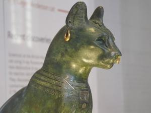 Model of the goddess Bastet, photo taken at the British Museum
