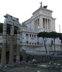 Part of the Roman Forum next to Villa Venezia