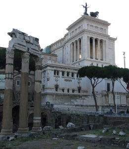 Part of the Roman Forum next to Villa Venezia